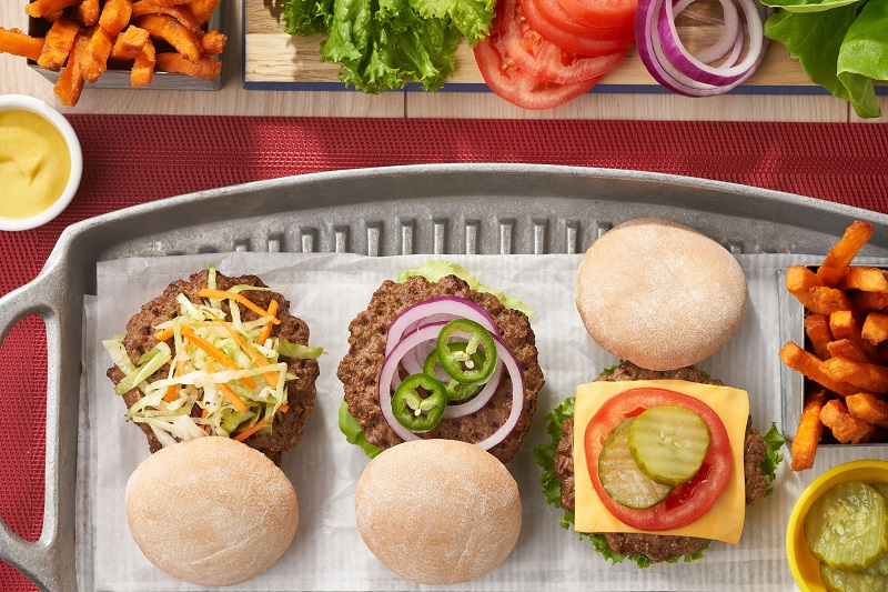 Nutrisystem Hamburgers with different toppings