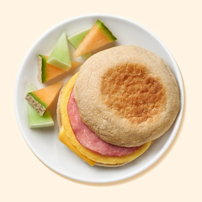 Canadian Style Turkey Bacon, Egg And Cheese Muffin