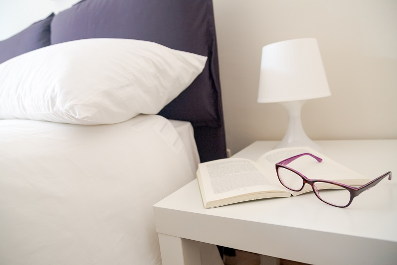 Keep a book handy on your bedroom nightstand to make it easier to read more