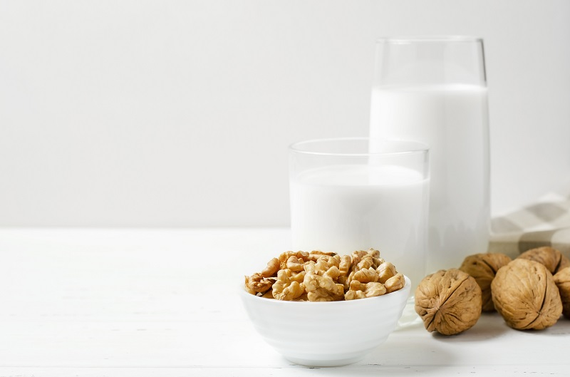 The omega-3s in walnut milk are good for your skin and brain